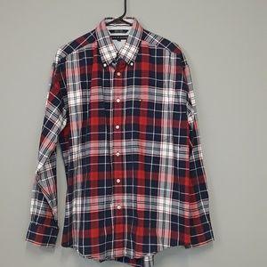 Tommy Hilfiger men's plaid button down shirt